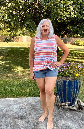 Tara Corduroy Shorts Vintage Blue
