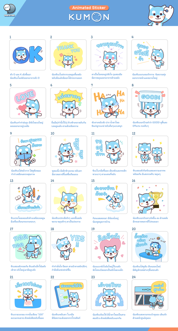 Animated Sticker Kumon Thailand