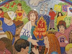 9. Rashi Mosaic detail of center
