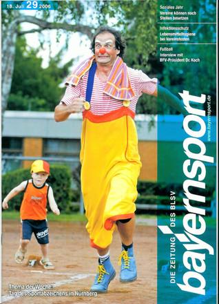 Clown Toni beim Sport