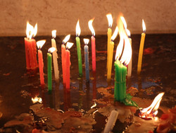 Candles in Light House