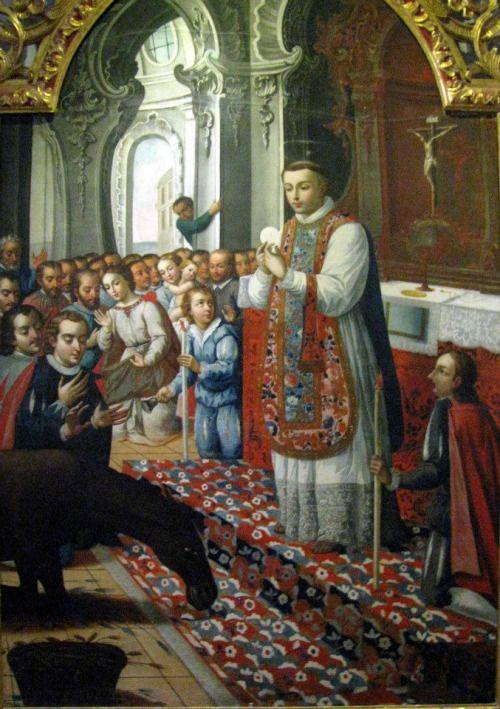 A Donkey Adores Eucharist
