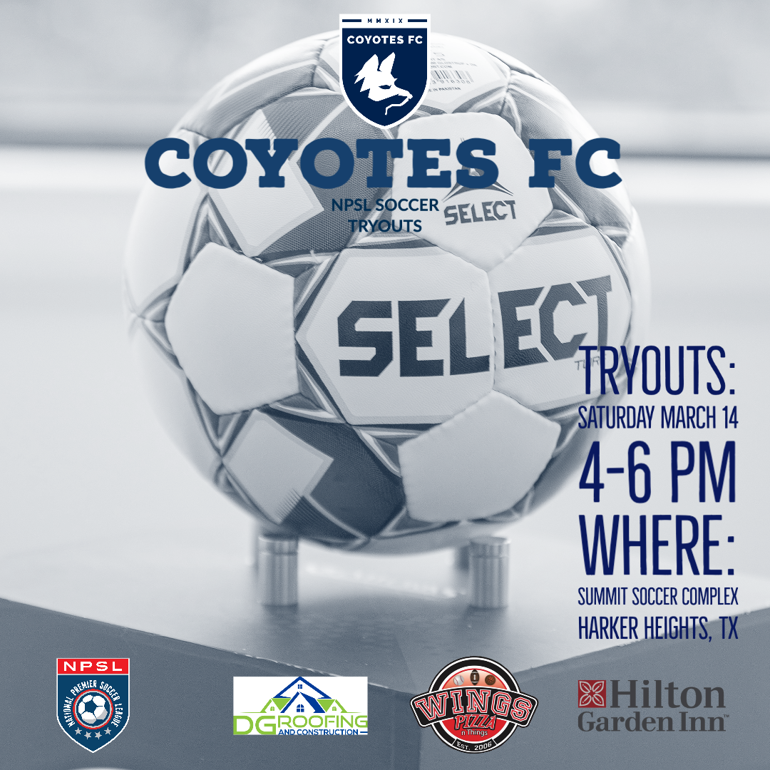 Coyotes FC NPSL Tryouts