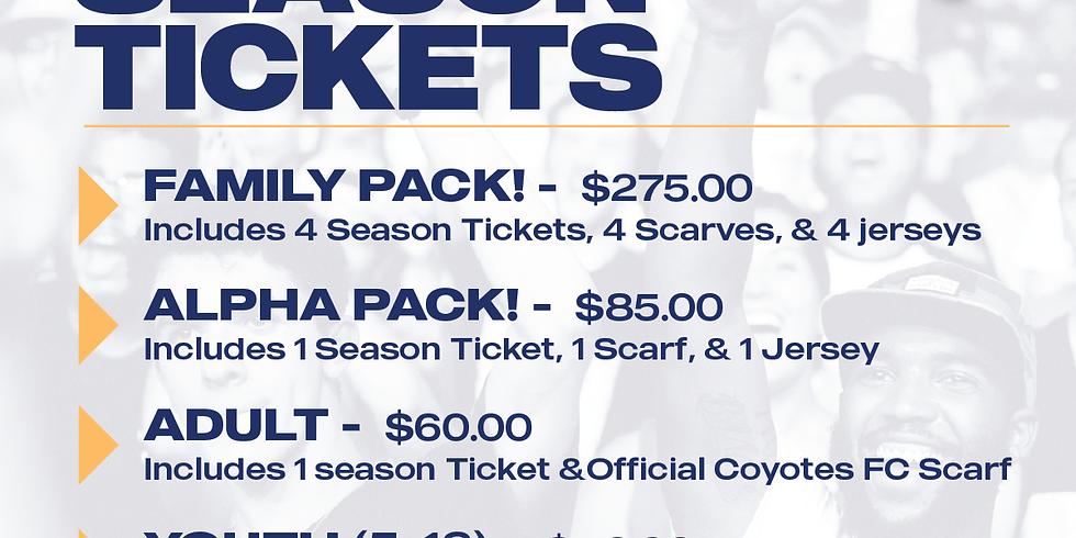 Coyotes FC NPSL Season Ticlets