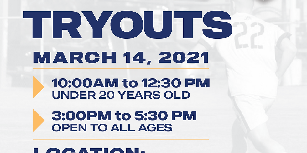 COYOTES FC 2021 UNDER 20 YEARS OLD TRYOUTS