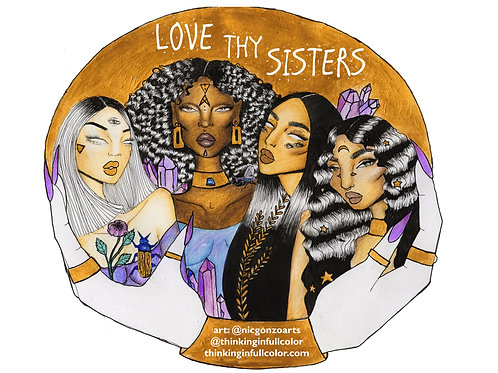 'love thy sisters' premium sticker