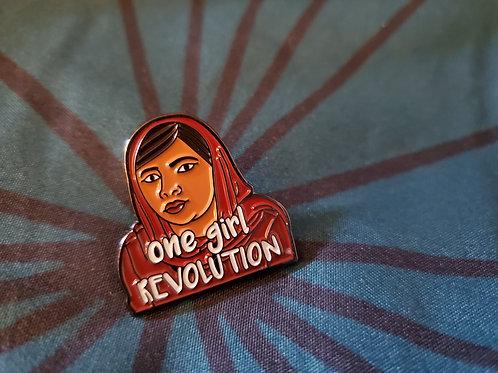 'One Girl Revolution' Malala Pin