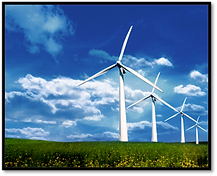 Wind power is used to power electrolysis which converts energy to enable hydrogen storage for later enery use