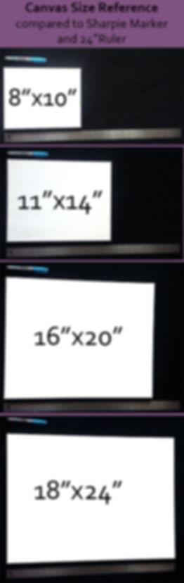 Art size comparison