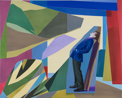 Boy in an abstract Landscape