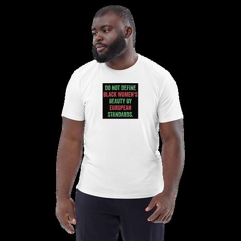 Unisex Black Woman Organic Cotton T-Shirt
