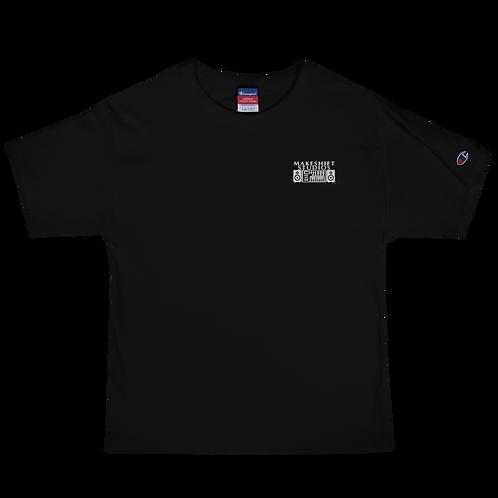 Men's Makeshift Studios White Embroidered Champion T-Shirt