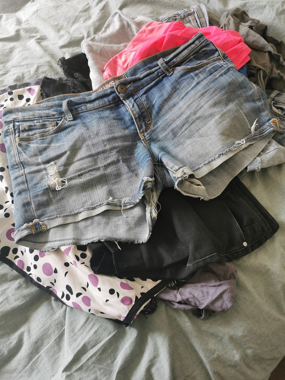A pile of shorts