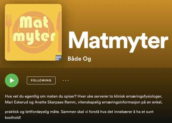 Matmyter-podcasten er ute!