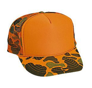 Otto Cap Camo Orange Trucker Hat #49-131