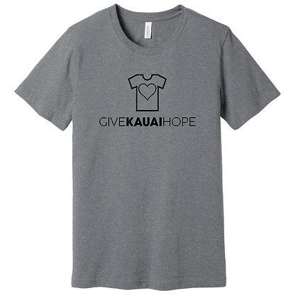 Give Kauai Hope T-shirt (Heather Storm)