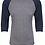 Thumbnail: Next Level Unisex Triblend 3/4-Sleeve Raglan #6051