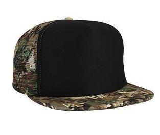 Otto Cap Flat Bill Mesh/Bill Camo Trucker Hat #132-1037