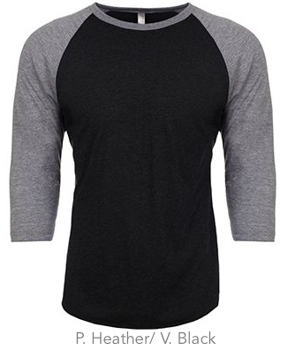 Next Level Unisex Triblend 3/4-Sleeve Raglan #6051