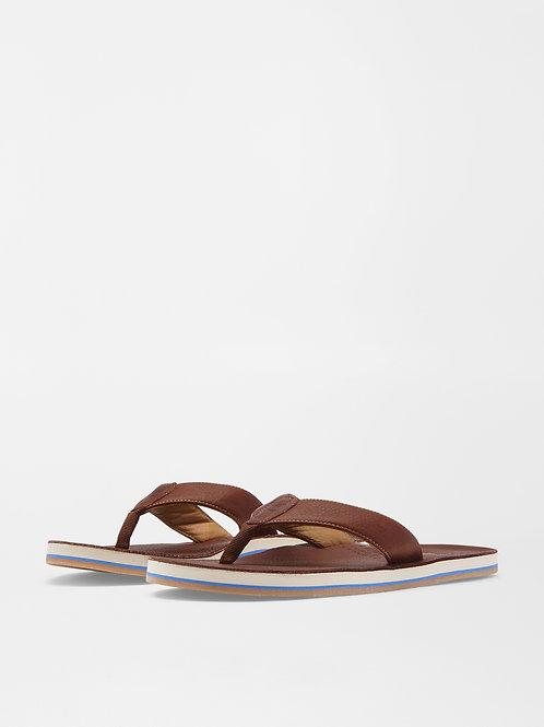 Peter Millar Flip Flops (Chocolate)