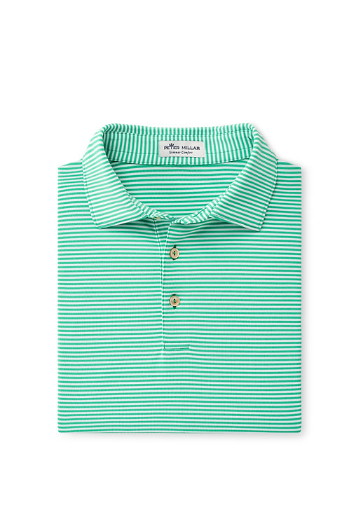 Peter Millar Fancy Polo (Pesto Stripe)