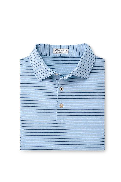 Peter Millar Fancy Polo (Light Blue Stripe)