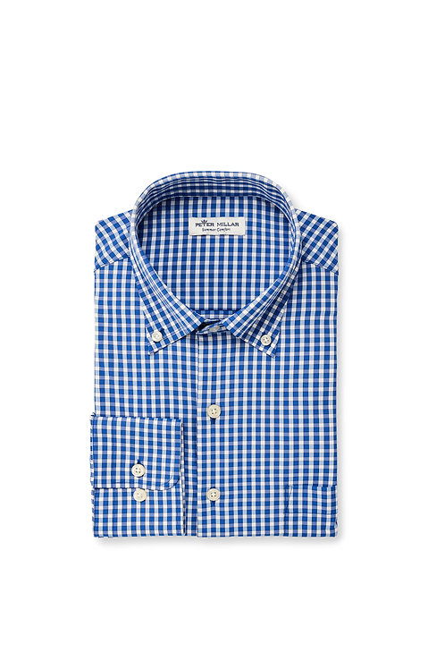 Peter Millar Button Down (Blue Checked)