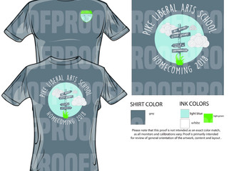 Homecoming T-Shirt Order Forms