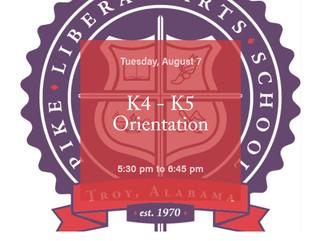 K4 - K5 Orientation