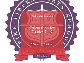 Orientation for Grades 7 - 9