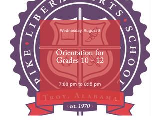 Orientation for Grades 10 - 12