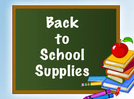 Elementary (K4 - 6th Grade) Supply Lists for 2018-19 School Year