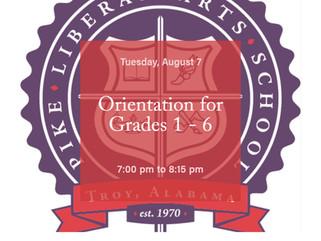 Orientation for Grades 1 - 6