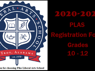 PLAS Registration Forms for Grades 10-12