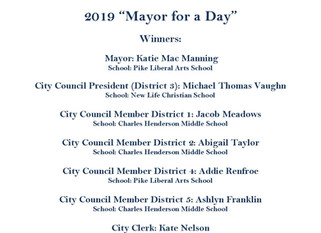 2019 Mayor for a Day Winners