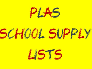 PLAS 2020-2021 Supply Lists