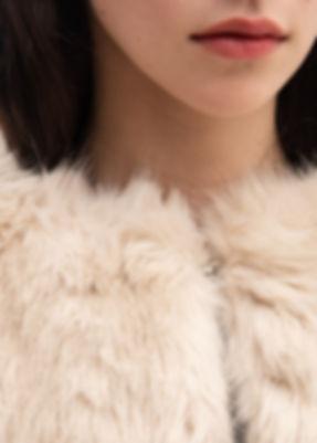 Helmut Lang Oatmeal Faux Fur Coat-3.jpg