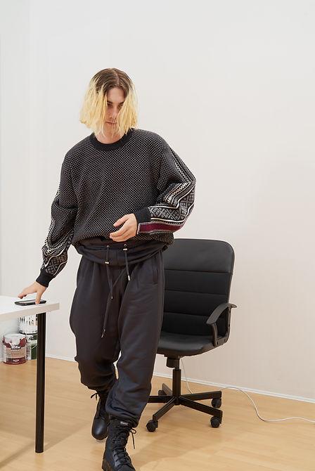 Yang Li Samizdat Black PVT Sweatshirt-4.