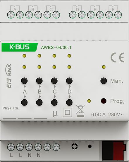 KNX 4 folds, 6A 230V, Shutter Actuator