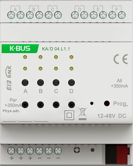 KNX 4 folds, 350/700/1000mA LED Dimmer