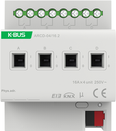 KNX 4 folds, 16A Switch Actuator with Current Measurement