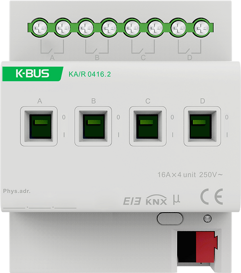 KNX 4 folds, 16A Switch Actuator