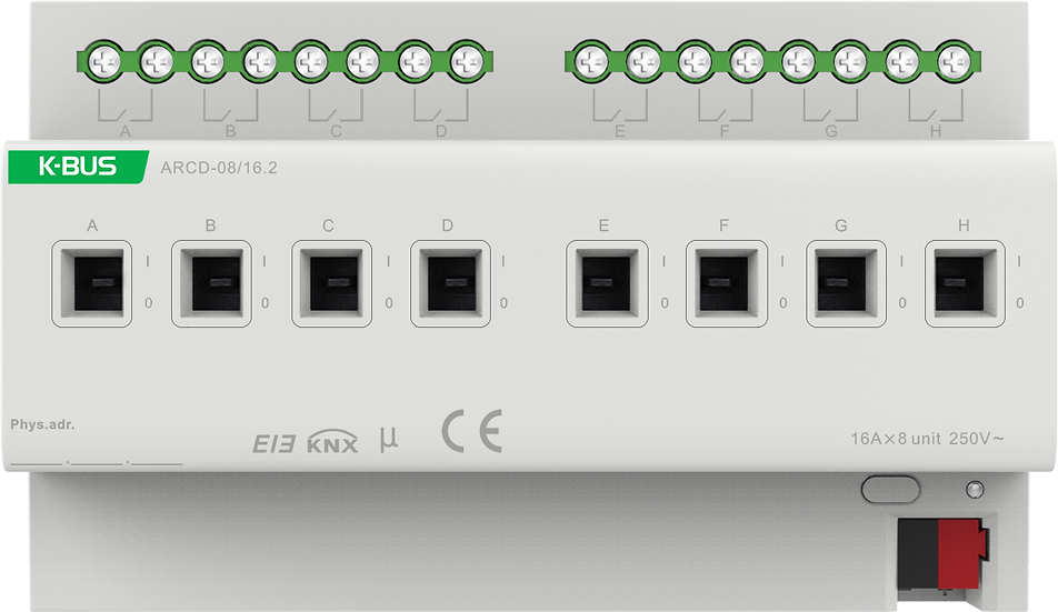 KNX 8 folds, 16A Switch Actuator with Current Measurement