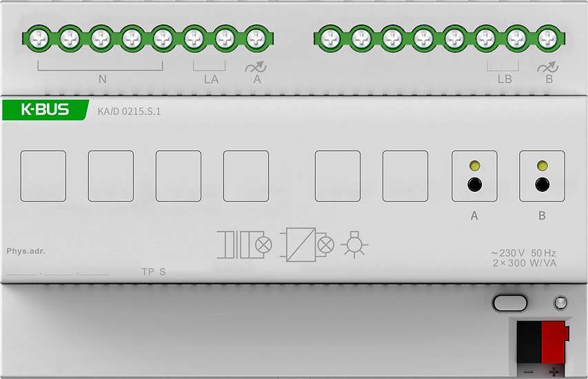 KNX 2 folds, SCR Dimmer Actuator