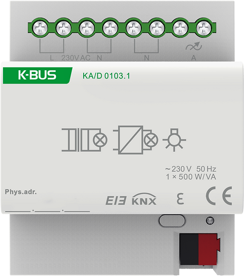 KNX 1 fold, 500W/CH Dimmer Actuator