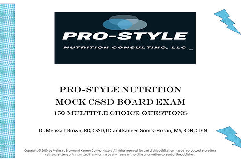 Mock CSSD Board Exam