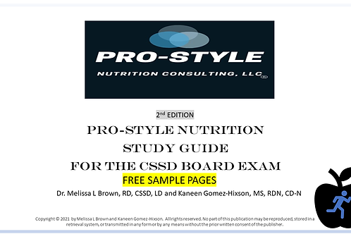 Free Sample Pages of our Study Guide (2nd edition) for the CSSD Board Exam
