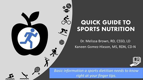 Quick Guide To Sports Nutrition Front Co
