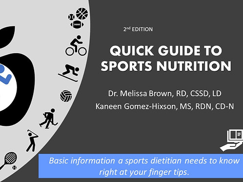 Quick Guide To Sports Nutrition, 2nd Edition