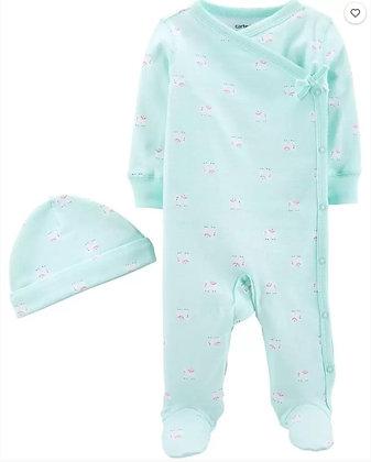 Pijama Carters 2 pcs Celeste